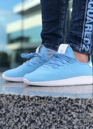 Adidas pharrell blue 💙, женские летние кроссовки адидас