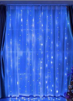 Гирлянда светодиодная Водопад 280 LED, прозрачный шнур 3х1,5 м...