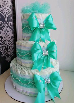 Торт з підгузників, торт из памперсов, из подгузников, з памперсі