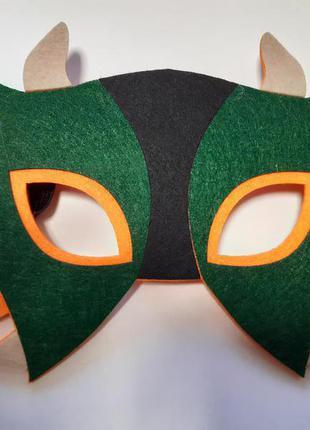 Детская маска для праздников - размер 12*21см