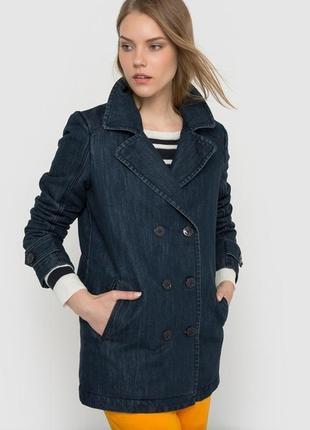 Брендовая джинсовая утепленная куртка r edition designed in fr...