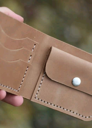 Мужской кошелек ручной работы сделан из кожи портмоне crazy horse