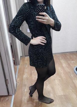 Теплое платье зима длинный рукав