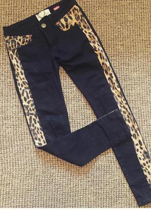 Джинси, леопард, тренд