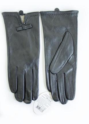 Класичные перчатки женские кожаные кролик сенсорные