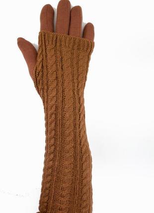 Женские перчатки стрейч длинные+митенка