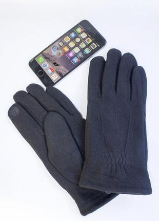Мужские зимние перчатки   кролик сенсорные