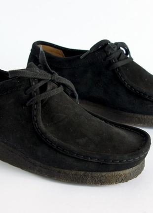 Туфли Clarks, черные, нубук, размер 41,5 Германия