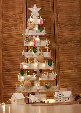 Елка интерьерная ручной работы из дерева