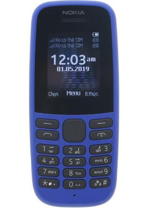 Мобильный телефон Nokia 105 DS 2019 Blue (16KIGL01A01)
