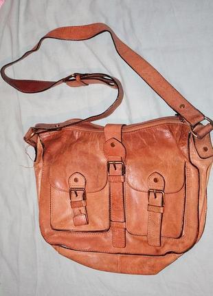 Шкіряна велика сумка - портфель/ сумка кожаная