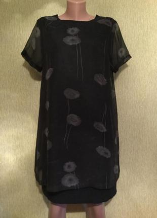 Платье с шифоновым верхом cotton clab 14 размер