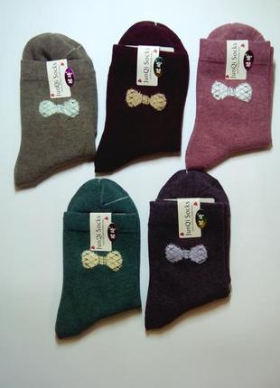 Носки женские с мягким бантиком средней высоты супер дизайн от...