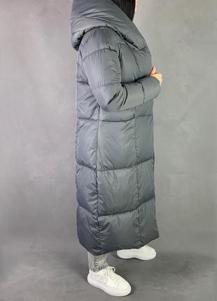 Пуховик одеяло макси зимнее  пальто био пух  видеообзор!