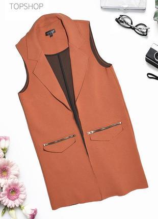 Пиджак без рукавов жакет topshop