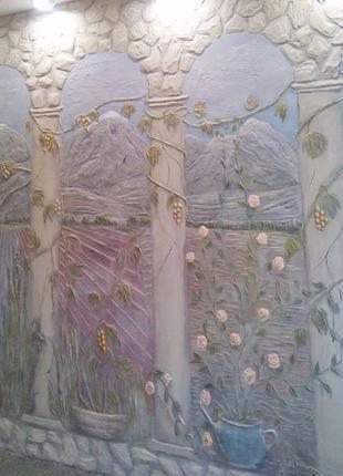 Изготовление панно, барельефов с росписью, картин на стенах