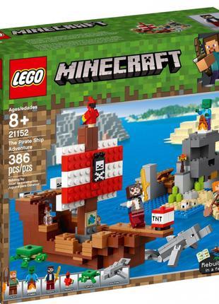Конструктор LEGO MINECRAFT Приключения на пиратском корабле 38...