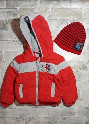 Теплая куртка на мальчика 2 года