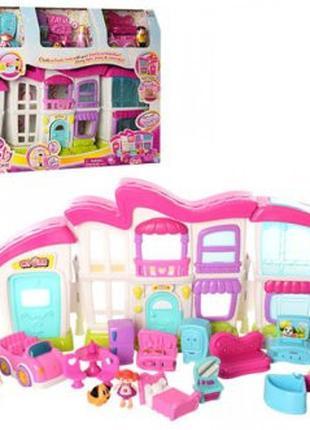 Домик для кукол с мебелью 16689 в комплекте с куклами
