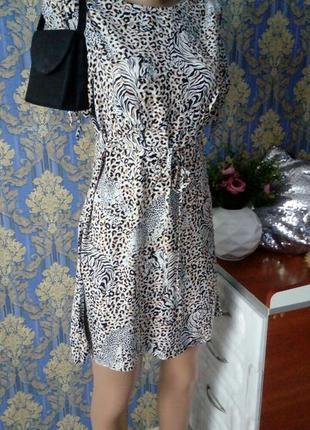 🐆1+1=3 хлопковое летнее платье леопард🐆