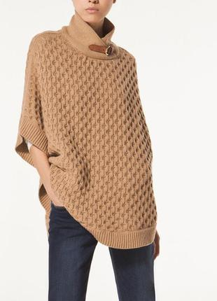Кейп ,удлиненный свитер ,пончо  (кашемир+шерсть+ангора) massim...