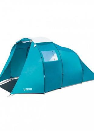 Палатка туристическая четырьехместная BW 68092 с навесом