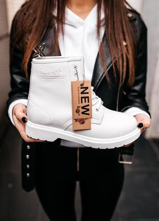 """Ботинки зимние dr.martens classic """"white"""""""