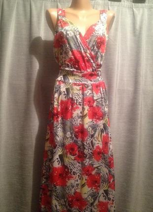 Платье в пол с цветочным принтом.241