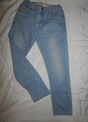 Джинсы модные на мальчика skinny 9-10лет 140см