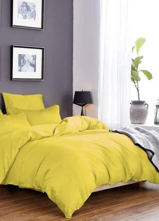 Постельное белье из ткани сатин желтого цвета