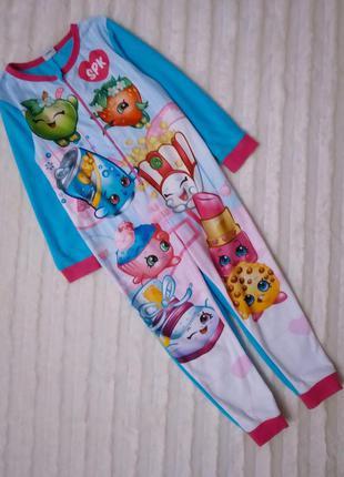 Флисовый ромпер пижама слип шопкинс