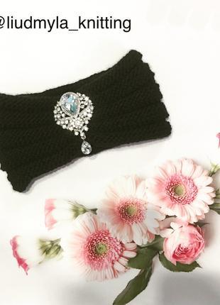 Вязание шапки с шарфом