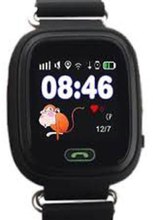 Детские часы с GPS трекером Q90 черные