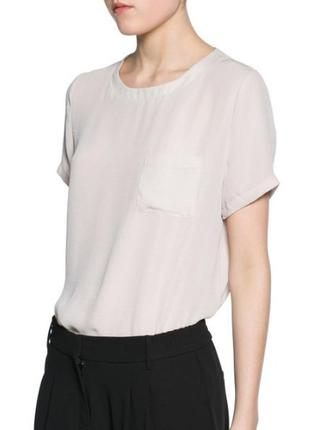Шифоновая блуза mango / xs / цвет лёгкий беж