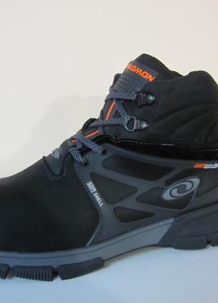 Мужские кожаные зимние ботинки/кроссовки в стиле salomon сезон...
