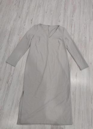 Ликвидация товара 🔥    серое платье миди с длинными рукавами и...