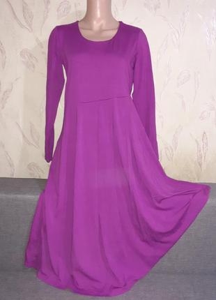 Асимметричное платье с длинным рукавом