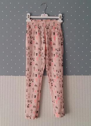 Легкие штаны/брюки lulu castagnette (франция) на 9-10 лет (раз...