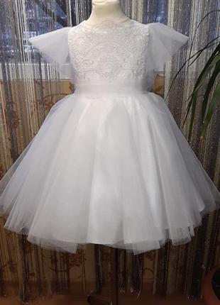 Детское белое платье