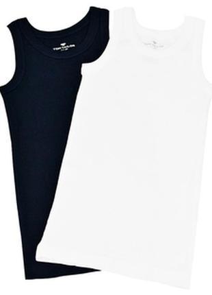 Майка для мальчика 2шт. tom tailor темно-синяя и белая от 122-...