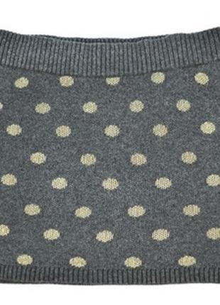 Новая юбка h&m теплая 92см, 1,5-2года серая в горошек на девочку