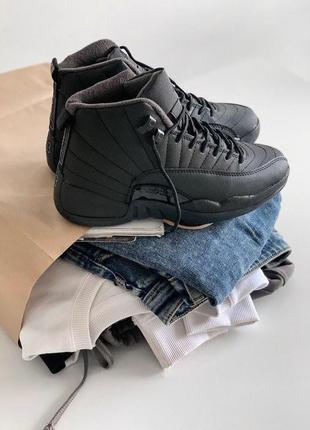 """Шикарные женские кроссовки nike air jordan 12 """"winterized"""" bla..."""