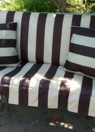 Матрас с подушками на качели садовые