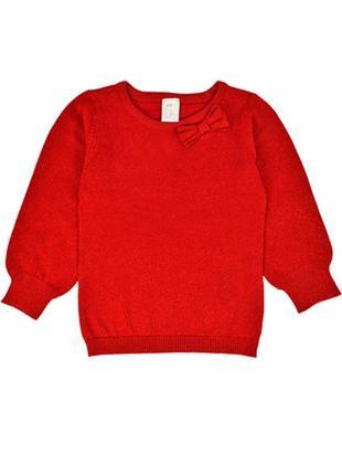 Красивая красная кофта для девочки 92см, 1,5-2г