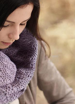 Женский шарф снуд