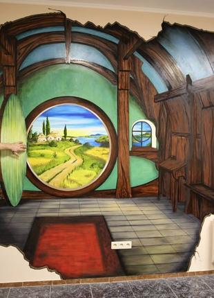 Художник для витрин,меню,стен магазинов, кафе, баров.