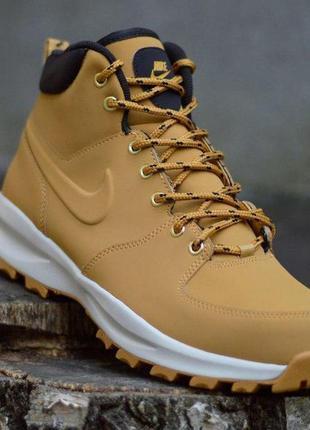 Шикарные мужские зимние ботинки / кроссовки nike manoa leather...