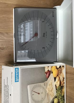 Весы механические кухонные Gorenje подвесные 3 кг НОВЫЕ качество