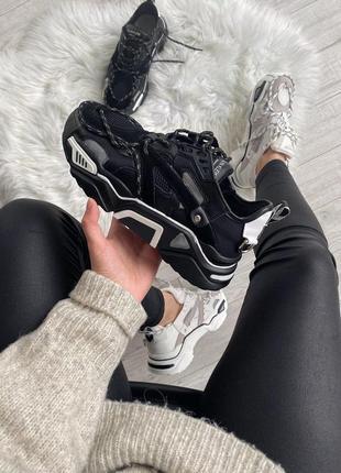 Шикарные женские кроссовки calvin klein strike 205 sneaker black