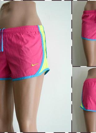 Nike dry fit женские спортивные шорты с вшитыми трусиками  раз...